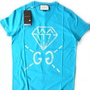"""Gucci Summer """"17,  sky blue T-shirt"""